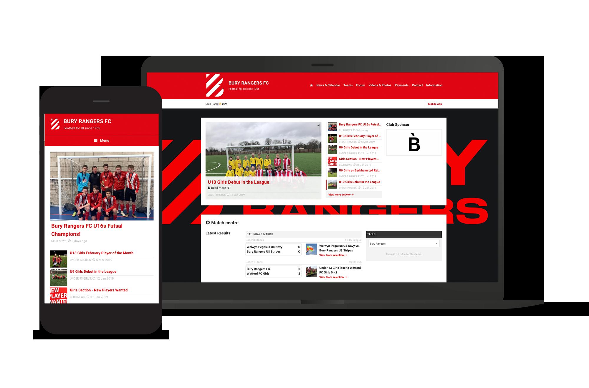 Bury Rangers Club Screens