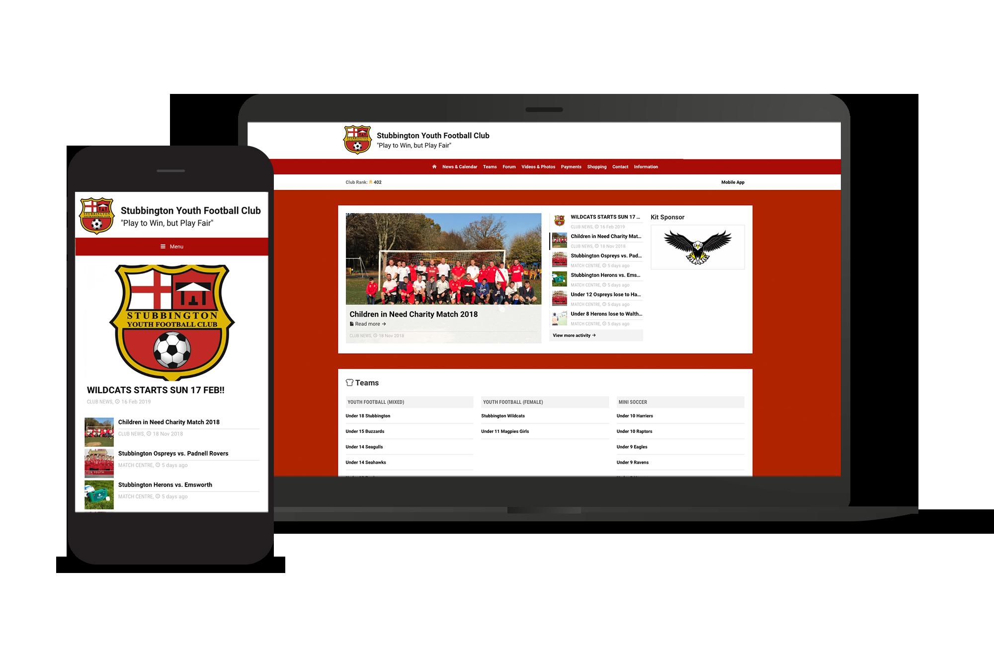 Stubbington Youth Football Club Screens