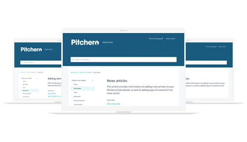 Pitchero Clubhouse popular help guides for new clubs joining Pitchero